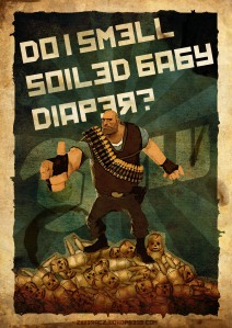 Do I smell soiled baby diaper?