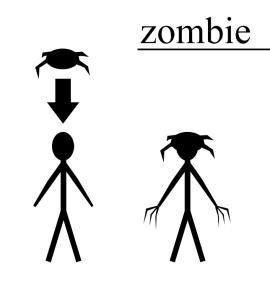 zombie schemat