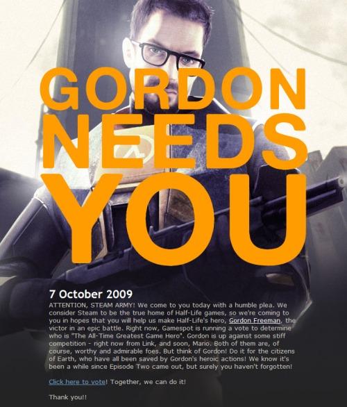 Gordon needs you